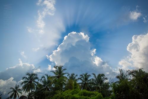 Crazy sunburst images from Mapusa, Goa!